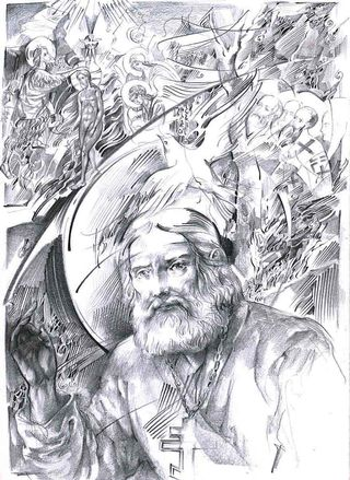 St Seraphim of Sarov  - illustration for Cambridge