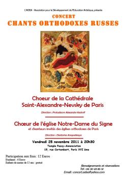 Affiche concert 25 11 2011